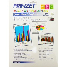 Inkjet Transparency PRINZET A4  105gsm Colour Inkjet Transparency (20sheets/Pack)