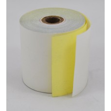 Paper Rolls 44 x 75 2Ply Carbonless Roll (White/Yellow Copy) (100 Rolls/Box)