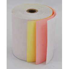 Paper Rolls 76 x 76 3Ply Carbonless Roll (White/Pink/Yellow Copy) (50 Rolls/Box)