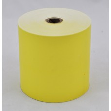 Paper Rolls 80 x 80 1Ply BANANA YELLOW Tinted Thermal Roll (Box of 24 Rolls)