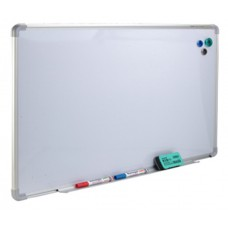 YOSOGO Whiteboard Aluminium F. 600mmW x 900mmH (Vertical) on Mobile Adjustable Stand with Castors