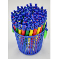 YOSOGO Retractable Ballpoint Pen Assorted Colours Barrel BLUE (50pcs/Box)