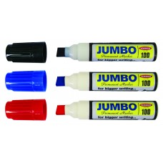YOSOGO Permanent Marker Jumbo (Pack of 3 Red)