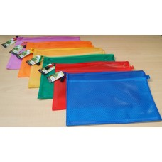 HIPPO A4 Zip Bag (Assorted Colours: Purple, Red, Orange, Green, Yellow & Blue)