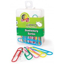 HIPPO PVC Box 50mm Colour Giant Clips (40pcs)