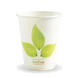 8oz Single Wall BioCup - leaf - Biopak