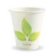 8oz Single Wall BioCup(90) - leaf - Biopak