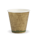 8oz Single Wall BioCup (90) - kraft green stripe - Biopak