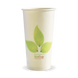 20oz Single Wall BioCup - leaf - Biopak