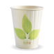 12oz Double Wall BioCup - leaf - Biopak
