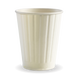 12oz Double Wall BioCup - white - Biopak