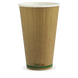 16oz Double Wall BioCup - kraft green stripe - Biopak