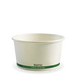 12oz BioBowl - white green stripe - Biopak