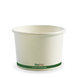 16oz BioBowl - white green stripe - Biopak