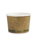16oz BioBowl -  kraft green stripe - Biopak