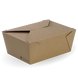 Extra large lunch BioBoard box - printed kraft-look - Biopak