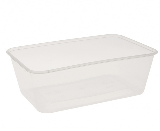 Emperor 750ml/30oz Polypropylene Rectangle Container - Copolymer (Freezer Grade) - UniPak