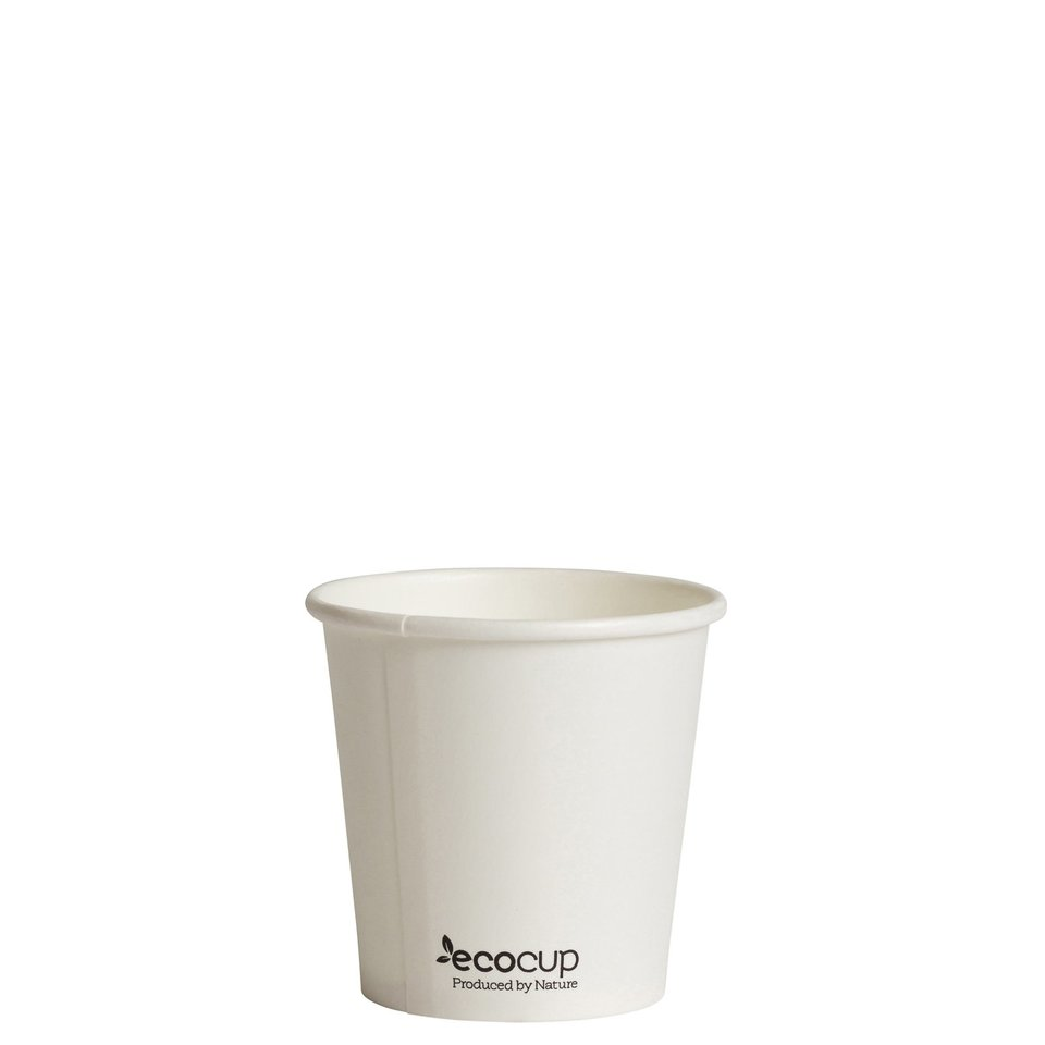 Hot Cup PLA Single Wall 4oz White (60mm) - Ecoware