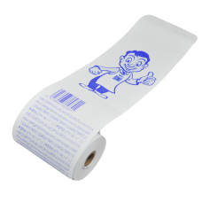 80 x 80 1Ply Thermal Roll Blue Image (5 x Box 10's) - TransLink