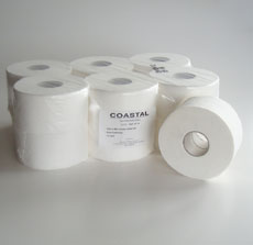 Mini Jumbo Toilet Rolls 2ply 135m - Coastal