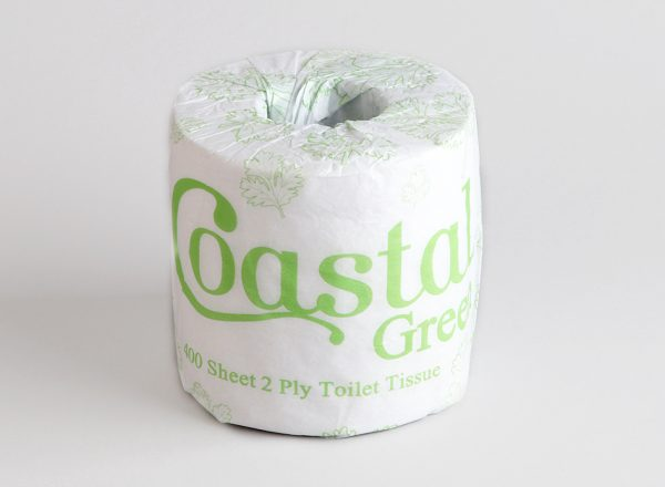 Toilet Rolls 2ply 400sheet recycled - Coastal