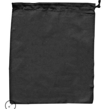 Large Drawstring Bag Black - Ecobags