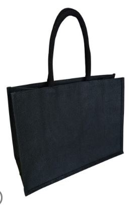 Shopper Bag Laminate Black - Ecobags
