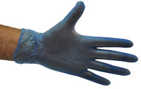 Blue Vinyl Gloves Powder Free Medium - Selfgard