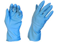 Blue Rubber Gloves Silverline 2XL - Pomona