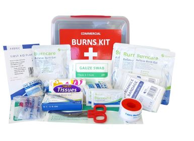 Medium Commercial Burn's First Aid Kit LUNCH BOX