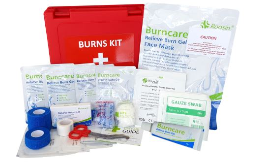 Essential Burn's First Aid Kit WALL MOUNT PLASTIC BOX