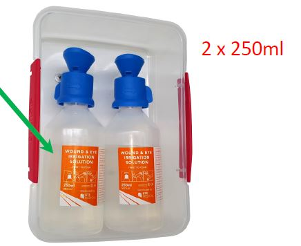 Emergency Eye and Wound Wash Station (2 x 250 ml)