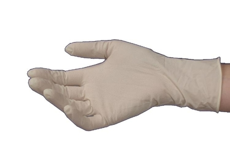 Latex Powdered Gloves Medium - HandPlus