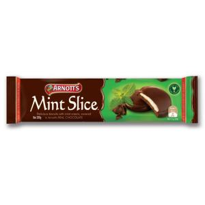 Arnotts Biscuits Chocolate Mint Slice 200Gm