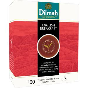 Dilmah English Breakfast Tea Bags Box 100