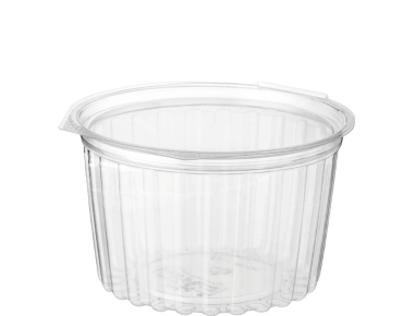Eco-Smart' Clearview' Food Bowls 16 oz Hinged Flat Lid, Clear - Castaway