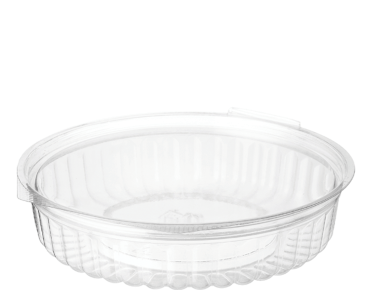 Eco-Smart' Clearview' Food Bowls 20 oz Hinged Flat Lid, Clear - Castaway