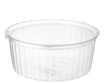 Eco-Smart' Clearview' Food Bowls 32 oz Hinged Flat Lid, Clear - Castaway
