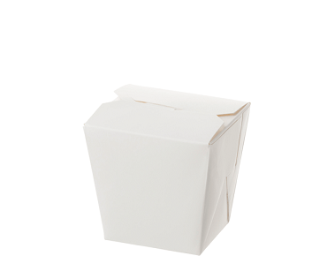 Paper Food Pail - No Handle, 8oz Small, White - Castaway