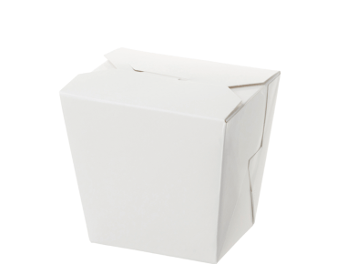 Paper Food Pail - No Handle, 16oz Medium, White