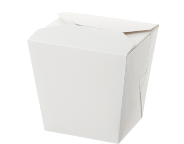 Paper Food Pail - No Handle, 26oz Large, White