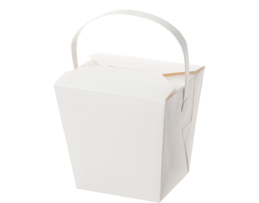 Paper Food Pail with Paper Handle 26oz Large, White