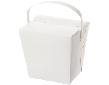 Paper Food Pail with Paper Handle 32oz Extra Large, White