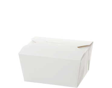 Paper Meal Pail #1 Small, White