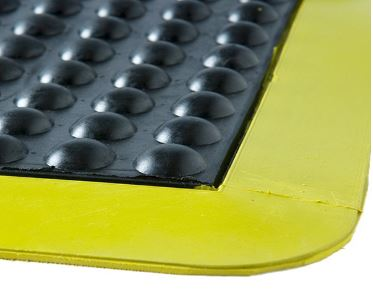 Bubble Mat - Black with yellow border - Glomesh