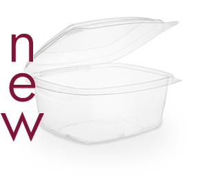 Clam Deli Bowl 600ml Brim - PLA - Vegware - Pack & Carton