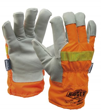 REFLECTOR Rigger Glove with Orange Reflective back & Thinsulate lining 2XL - Esko