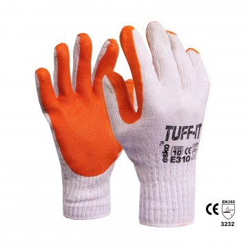 TUFF-IT' Knitted poly/cotton glove, Red latex dip Size 11 - Esko