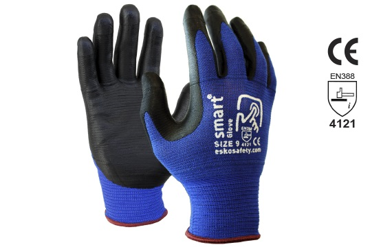 SMART GLOVE' Nitrile Glove with Touchscreen Fingertips Size 10 - Esko