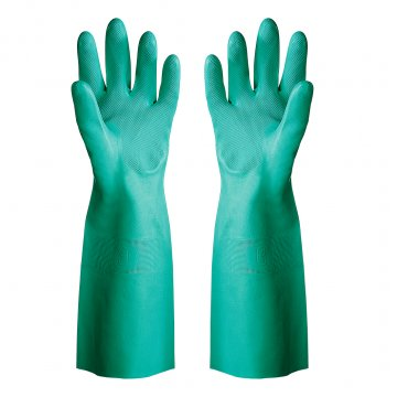 Nitrile chemical glove unlined, 45cm long, GREEN - Esko